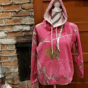 Realtree Pink Hoodie Size Medium